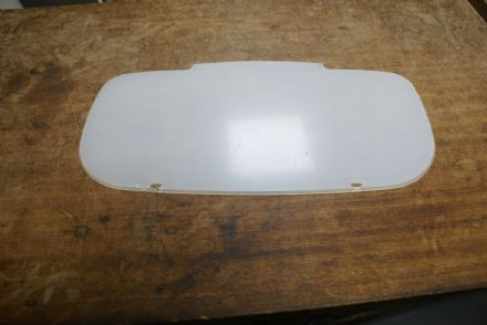 C5 Perspex Front License Plate,Shaped,New